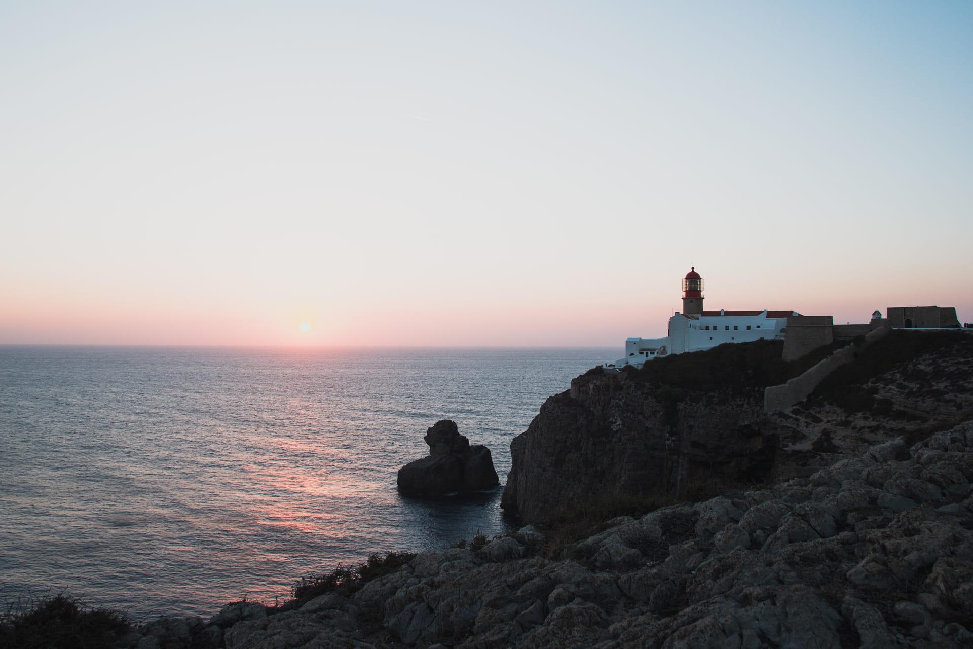 Lighthouse at Cabo de São Vicente, Sagres, Portugal